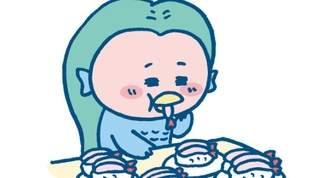 【アマビエ】「ビックリマンシールに!」「キモカワ!」コロナウイルス退散祈願のアマビエグッズ&お菓子が凄すぎ(1/2)