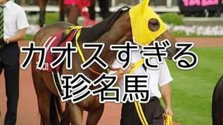 【モグモグパクパク】珍名競走馬たちの馬名意味がカオスすぎた