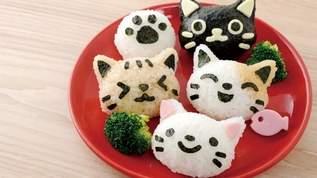【絶品グルメ】「おむすびニャン」でかわいいネコちゃん型のおむすびを作ってみた