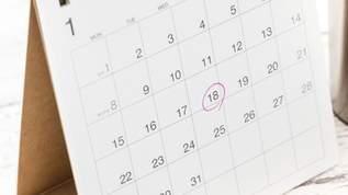 今年のカレンダーは印刷後に祝日が変更されたので、5月のカレンダーを剥がしたら9、11、19日を切り抜くと良い!?