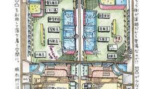 銭湯の「俯瞰図」(ふかんず)を描き続ける謎の女性「ひつじ」さんに会ってきた!