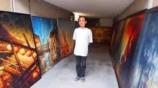 祇園祭LOVE!巨大な祇園祭の絵を自宅ガレージに展示する画家に会ってきた!