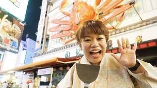 コテコテ英語で道頓堀を案内する名物女性ガイド「はっちゃん」の1日に密着!