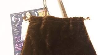 【付録】『GLOW』1月号特別付録はトレンドのエコファー巾着バッグ!