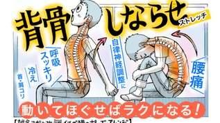 腰痛予防から背中のコリ緩和に「背骨しならせストレッチ」でリフレッシュ