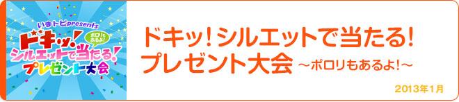ドキッ!シルエットで当たる!プレゼント大会~ポロリもあるよ!~ 2013年1月